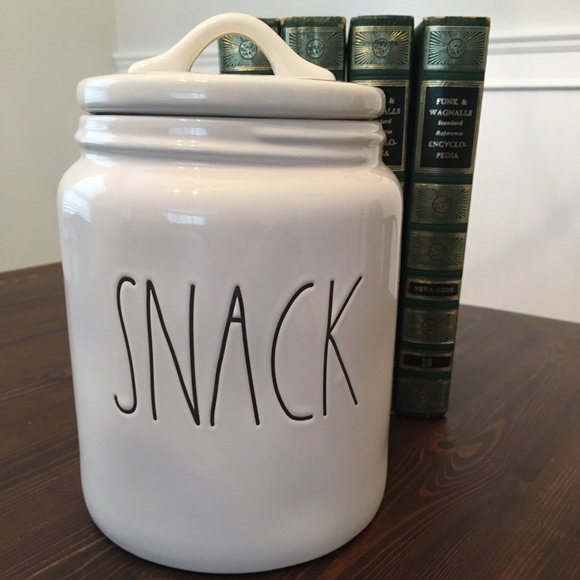 "Rae Dunn ""Snack"" canister"